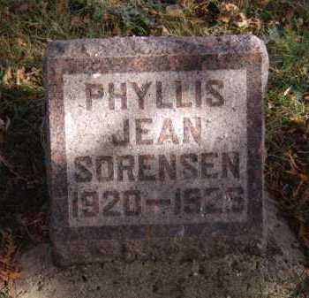 SORENSEN, PHYLLIS JEAN - Moody County, South Dakota | PHYLLIS JEAN SORENSEN - South Dakota Gravestone Photos