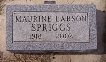 SPRIGGS, MAURINE - Moody County, South Dakota | MAURINE SPRIGGS - South Dakota Gravestone Photos