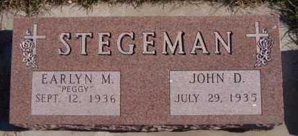 "STEGEMAN, EARLYN M ""PEGGY"" - Moody County, South Dakota | EARLYN M ""PEGGY"" STEGEMAN - South Dakota Gravestone Photos"