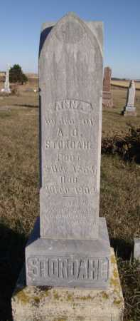 STORDAHL, ANNA - Moody County, South Dakota | ANNA STORDAHL - South Dakota Gravestone Photos