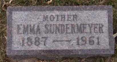SUNDERMEYER, EMMA - Moody County, South Dakota | EMMA SUNDERMEYER - South Dakota Gravestone Photos