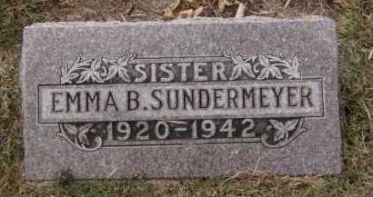 SUNDERMEYER, EMMA B - Moody County, South Dakota | EMMA B SUNDERMEYER - South Dakota Gravestone Photos