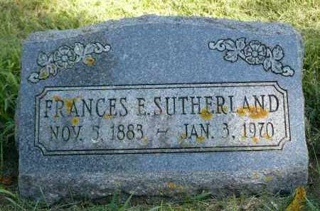 SUTHERLAND, FRANCES E. - Moody County, South Dakota | FRANCES E. SUTHERLAND - South Dakota Gravestone Photos