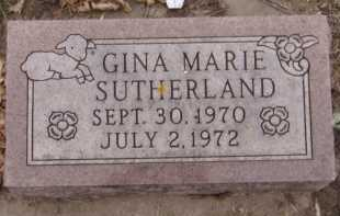 SUTHERLAND, GINA MARIE - Moody County, South Dakota | GINA MARIE SUTHERLAND - South Dakota Gravestone Photos