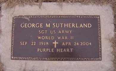 SUTHERLAND, GEORGE M (MILITARY) - Moody County, South Dakota | GEORGE M (MILITARY) SUTHERLAND - South Dakota Gravestone Photos