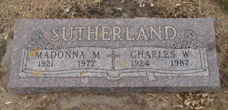 SUTHERLAND, CHARLES W - Moody County, South Dakota | CHARLES W SUTHERLAND - South Dakota Gravestone Photos