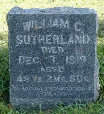 SUTHERLAND, WILLIAM C. - Moody County, South Dakota | WILLIAM C. SUTHERLAND - South Dakota Gravestone Photos