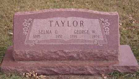 TAYLOR, SELMA O - Moody County, South Dakota | SELMA O TAYLOR - South Dakota Gravestone Photos