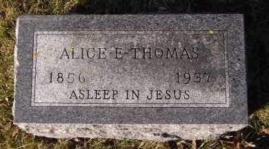 THOMAS, ALICE E. - Moody County, South Dakota   ALICE E. THOMAS - South Dakota Gravestone Photos