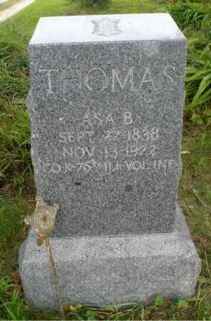 THOMAS, ASA B. - Moody County, South Dakota   ASA B. THOMAS - South Dakota Gravestone Photos