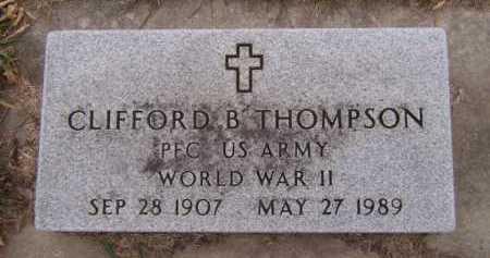 THOMPSON, CLIFFORD B (MILITARY) - Moody County, South Dakota | CLIFFORD B (MILITARY) THOMPSON - South Dakota Gravestone Photos
