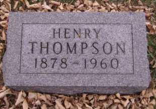 THOMPSON, HENRY - Moody County, South Dakota   HENRY THOMPSON - South Dakota Gravestone Photos