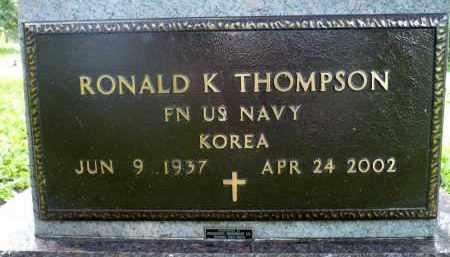THOMPSON, RONALD K. (KOREA) - Moody County, South Dakota | RONALD K. (KOREA) THOMPSON - South Dakota Gravestone Photos