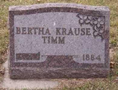 KRAUSE TIMM, BERTHA - Moody County, South Dakota | BERTHA KRAUSE TIMM - South Dakota Gravestone Photos