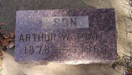 TOATES, ARTHUR W - Moody County, South Dakota | ARTHUR W TOATES - South Dakota Gravestone Photos