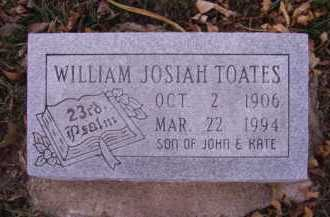 TOATES, WILLIAM JOSIAH - Moody County, South Dakota | WILLIAM JOSIAH TOATES - South Dakota Gravestone Photos