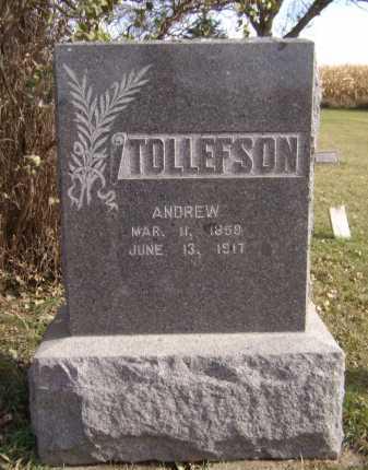 TOLLEFSON, ANDREW - Moody County, South Dakota   ANDREW TOLLEFSON - South Dakota Gravestone Photos