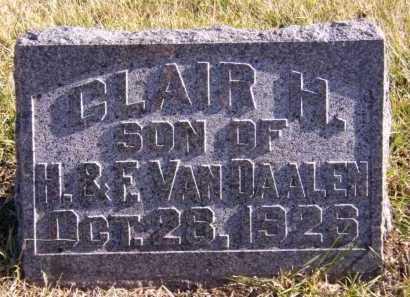VAN DAALEN, CLAIR H - Moody County, South Dakota | CLAIR H VAN DAALEN - South Dakota Gravestone Photos