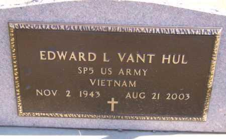 VANT HUL, EDWARD L (MILITARY) - Moody County, South Dakota | EDWARD L (MILITARY) VANT HUL - South Dakota Gravestone Photos