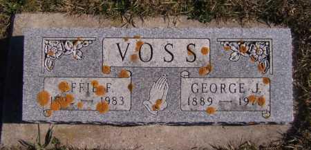 VOSS, EFFIE F - Moody County, South Dakota | EFFIE F VOSS - South Dakota Gravestone Photos