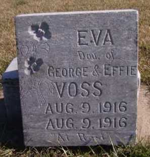 VOSS, EVA - Moody County, South Dakota | EVA VOSS - South Dakota Gravestone Photos