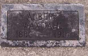 WAXDAHL, ALBERT - Moody County, South Dakota | ALBERT WAXDAHL - South Dakota Gravestone Photos