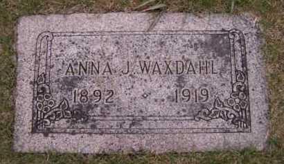WAXDAHL, ANNA J - Moody County, South Dakota   ANNA J WAXDAHL - South Dakota Gravestone Photos