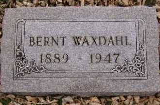 WAXDAHL, BERNT - Moody County, South Dakota | BERNT WAXDAHL - South Dakota Gravestone Photos