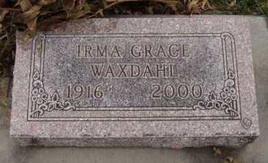 WAXDAHL, IRMA GRACE - Moody County, South Dakota | IRMA GRACE WAXDAHL - South Dakota Gravestone Photos