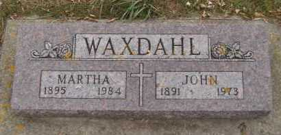 WAXDAHL, MARTHA - Moody County, South Dakota | MARTHA WAXDAHL - South Dakota Gravestone Photos