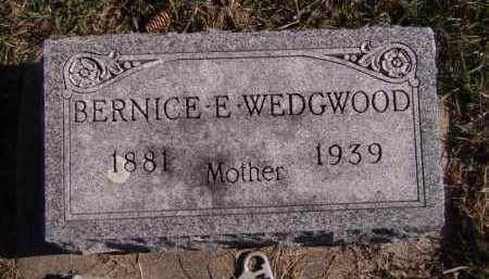 WEDGWOOD, BERNICE E - Moody County, South Dakota | BERNICE E WEDGWOOD - South Dakota Gravestone Photos