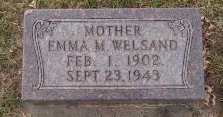WELSAND, EMMA M - Moody County, South Dakota | EMMA M WELSAND - South Dakota Gravestone Photos