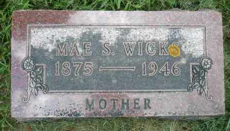 WICKS, MAE S. - Moody County, South Dakota | MAE S. WICKS - South Dakota Gravestone Photos