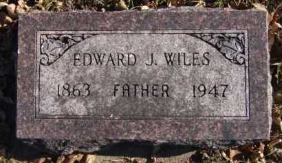 WILES, EDWARD J - Moody County, South Dakota | EDWARD J WILES - South Dakota Gravestone Photos