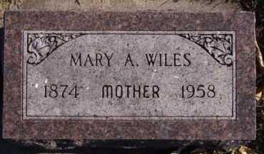 WILES, MARY A - Moody County, South Dakota | MARY A WILES - South Dakota Gravestone Photos