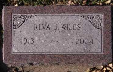 WILES, REVA J - Moody County, South Dakota | REVA J WILES - South Dakota Gravestone Photos