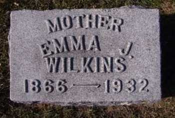 WILKINS, EMMA J - Moody County, South Dakota | EMMA J WILKINS - South Dakota Gravestone Photos