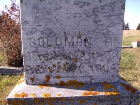 WILKINS, SOLOMON H (CLOSEUP) - Moody County, South Dakota | SOLOMON H (CLOSEUP) WILKINS - South Dakota Gravestone Photos