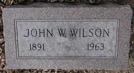 WILSON, JOHN W. - Moody County, South Dakota | JOHN W. WILSON - South Dakota Gravestone Photos