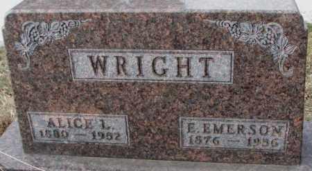 WRIGHT, ALICE L. - Moody County, South Dakota | ALICE L. WRIGHT - South Dakota Gravestone Photos