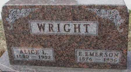 WRIGHT, ALICE L. - Moody County, South Dakota | ALICE L. WRIGHT - South Dakota Gravestone Photos