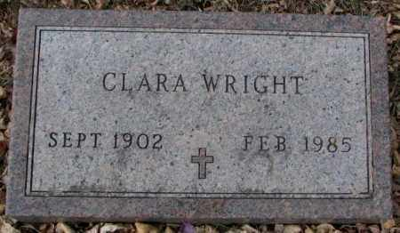 WRIGHT, CLARA - Moody County, South Dakota | CLARA WRIGHT - South Dakota Gravestone Photos