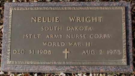 WRIGHT, NELLIE - Moody County, South Dakota | NELLIE WRIGHT - South Dakota Gravestone Photos