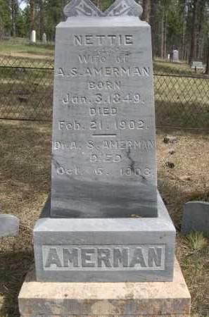 AMERMAN, A.S. - Pennington County, South Dakota | A.S. AMERMAN - South Dakota Gravestone Photos