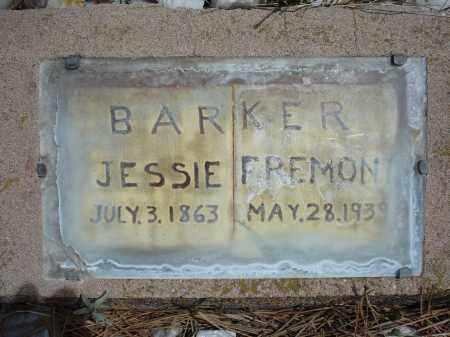 BARKER, JESSIE FREMONT - Pennington County, South Dakota | JESSIE FREMONT BARKER - South Dakota Gravestone Photos