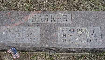 BARKER, BEATRICE P. - Pennington County, South Dakota | BEATRICE P. BARKER - South Dakota Gravestone Photos