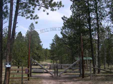 **BELL PARK/ROCHFORD CEMETERY, ENTRANCE GATE - Pennington County, South Dakota   ENTRANCE GATE **BELL PARK/ROCHFORD CEMETERY - South Dakota Gravestone Photos