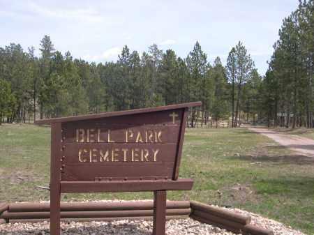 *BELL PARK/ROCHFORD CEMETERY, SIGN AT ENTRANCE - Pennington County, South Dakota | SIGN AT ENTRANCE *BELL PARK/ROCHFORD CEMETERY - South Dakota Gravestone Photos
