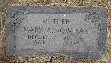 BOWMAN, MARY A. - Pennington County, South Dakota | MARY A. BOWMAN - South Dakota Gravestone Photos