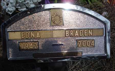 BRADEN, EDNA - Pennington County, South Dakota | EDNA BRADEN - South Dakota Gravestone Photos